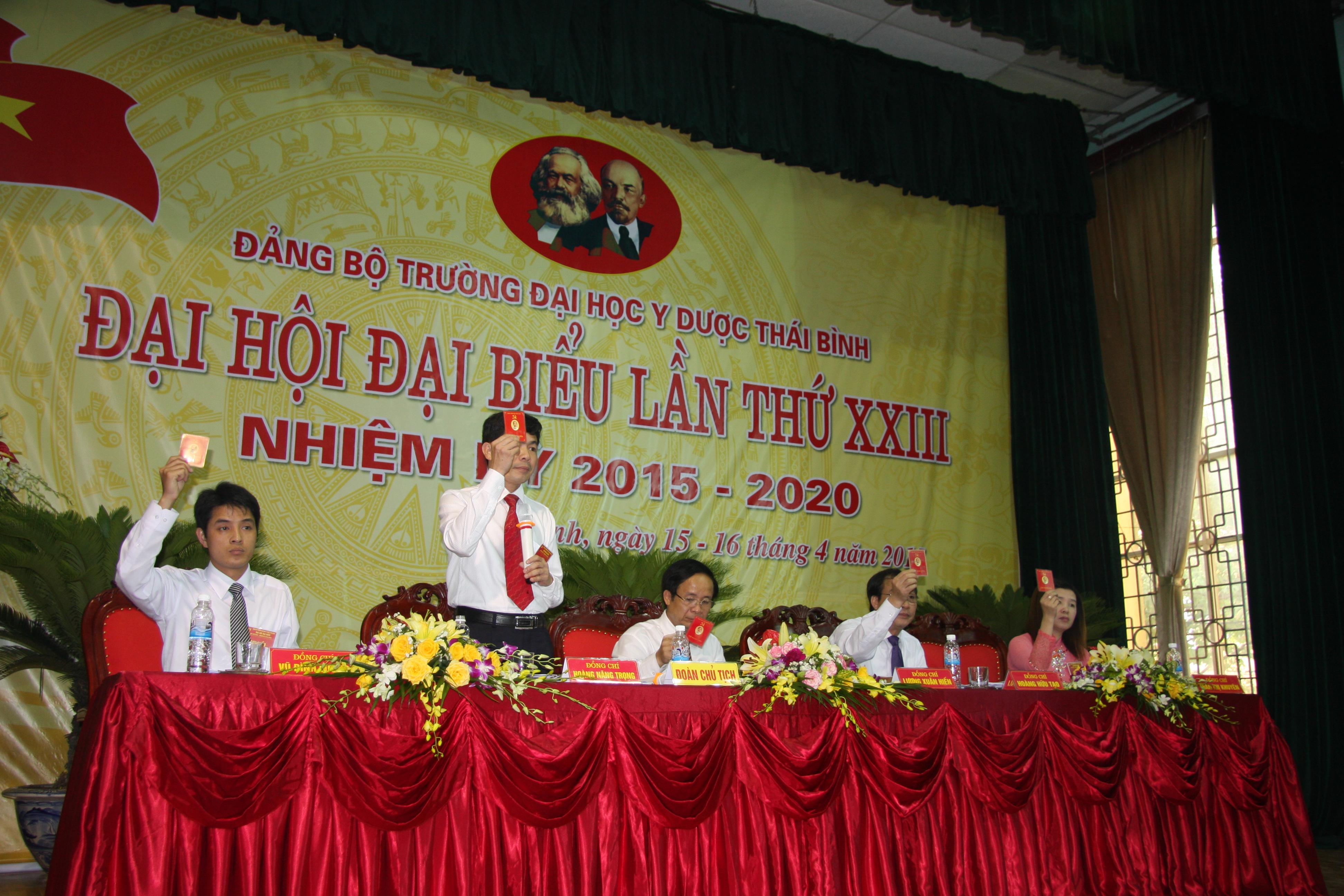 Trường Đại học Y Dược Thái Bình tổ chức thành công Đại hội Đại biểu Đảng bộ Nhà trường lần thứ XXIII, nhiệm kỳ 2015 - 2020